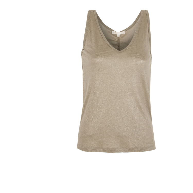 Linen vest top : Copy of Sale color