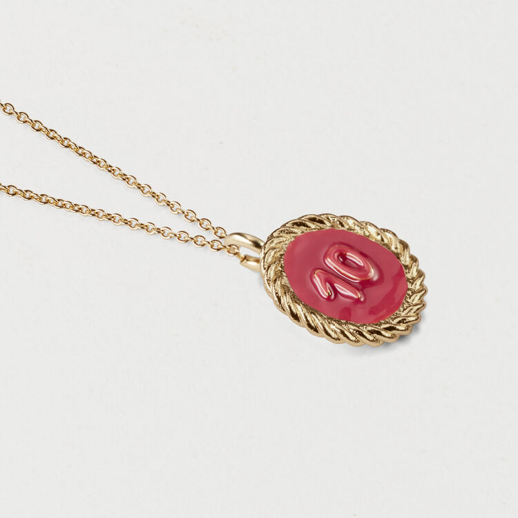 Number 10 medallion : Jewelry color GOLD