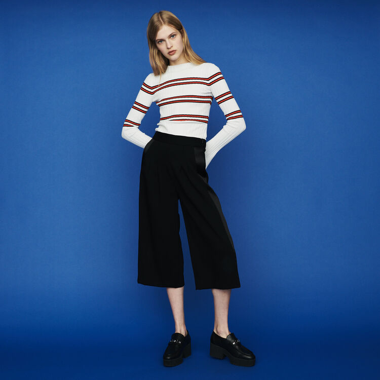 Large pants in crepe : Pants & Jeans color Black 210