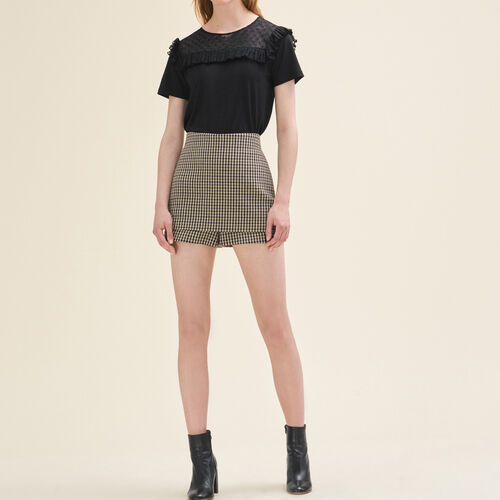 Short checked shorts - Skirts & Shorts - MAJE