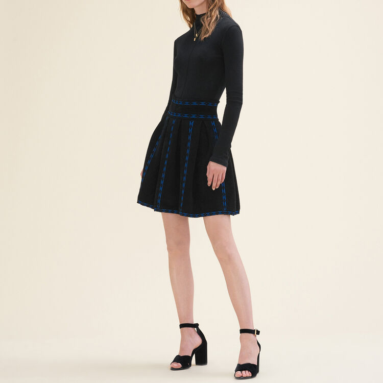 Jacquard knit skirt : null color