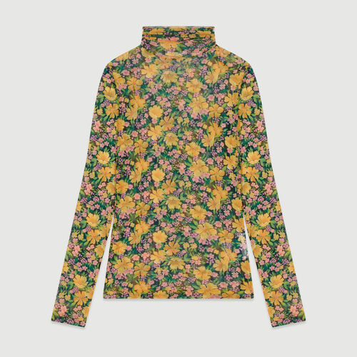Printed T-shirt with round collar : Tops & T-Shirts color Yellow
