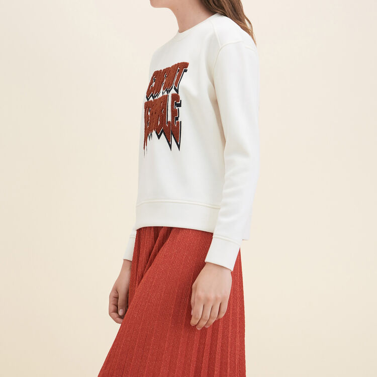 Neoprene Sweatshirt : Sweaters color Ecru