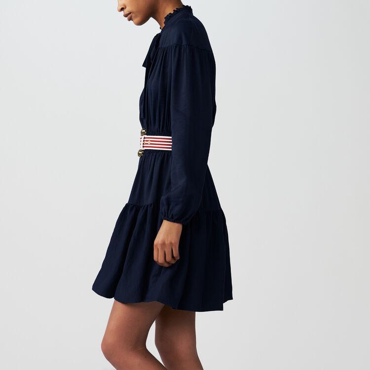 Ruffle smocked dress : Dresses color NIGHT BLUE