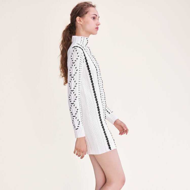 Cable knit dress - Dresses - MAJE