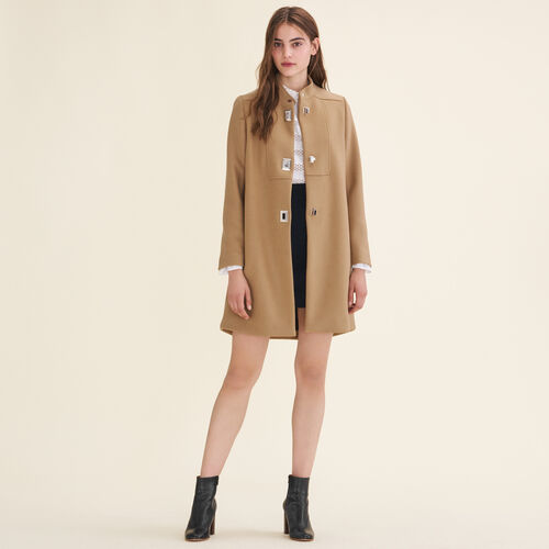 Coat with decorative fastenings : Coats & Jackets color Camel
