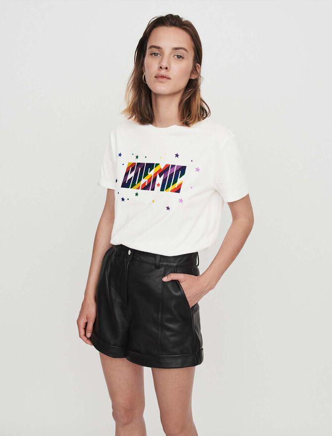 Cuffed shorts with topstitching - Skirts & Shorts - MAJE
