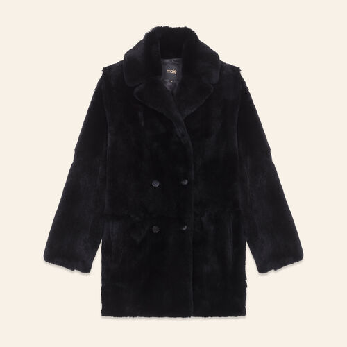 Rabbit coat - Coats & Jackets - MAJE