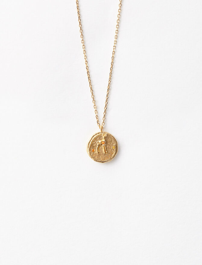 "Necklace with medallion ""Ma biche"" -  - MAJE"