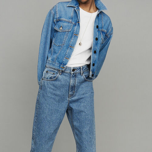 Cropped denim jacket : Coats & Jackets color Denim