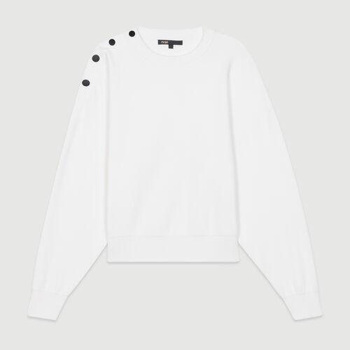 Shoulder-button sweater : Sweaters color ECRU