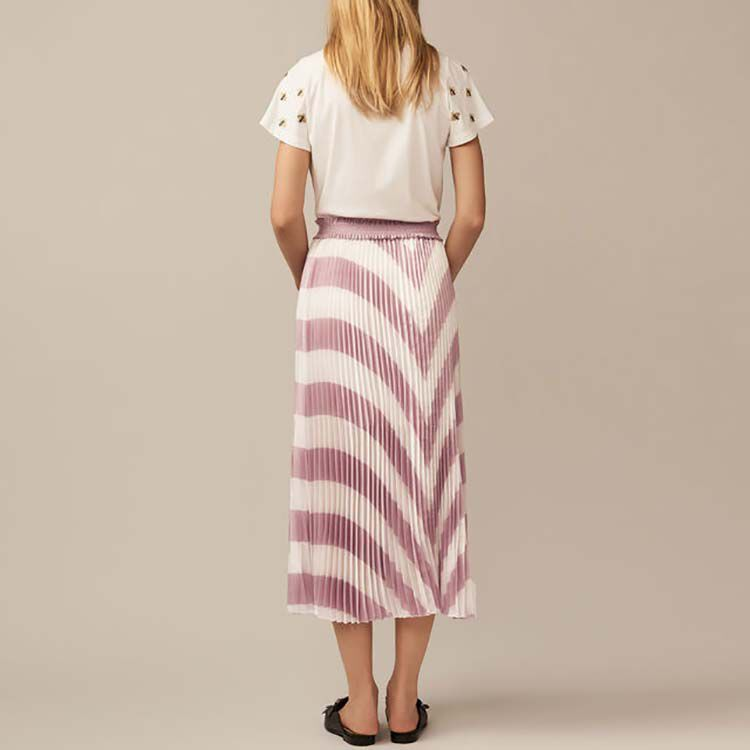 Long pleated skirt : Skirts & Shorts color PURPLE