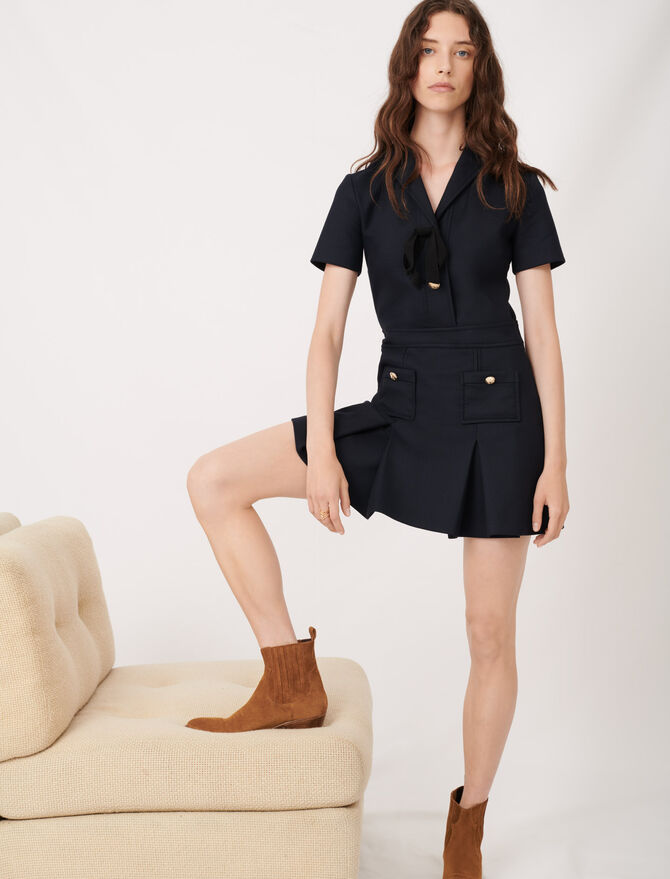 College-style dress with fancy buttons - Dresses - MAJE