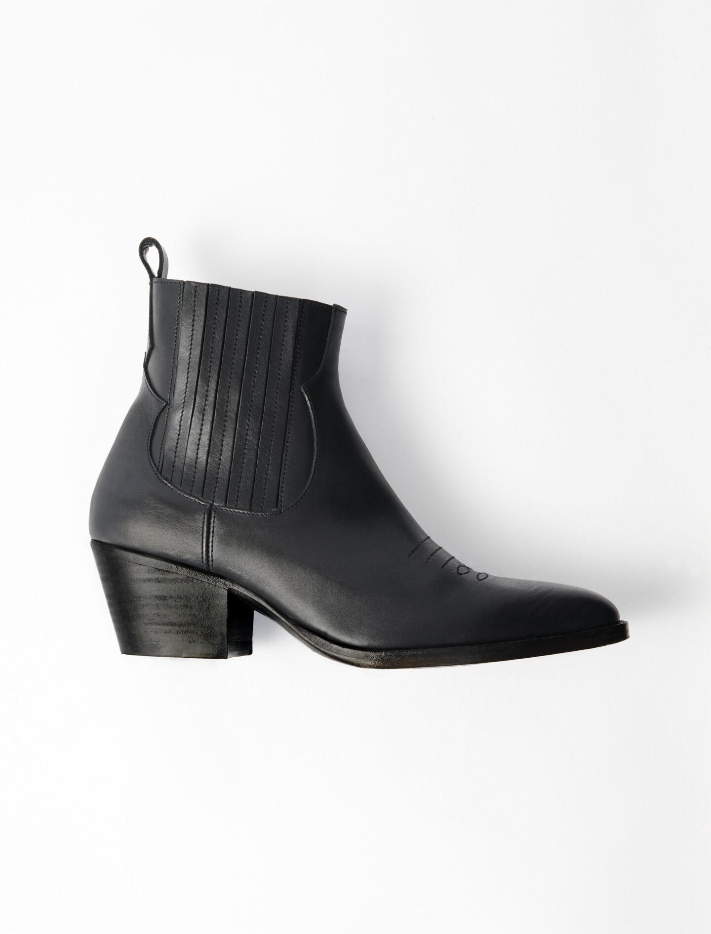 119FARWESTCUIR Leather Cowboy Boots