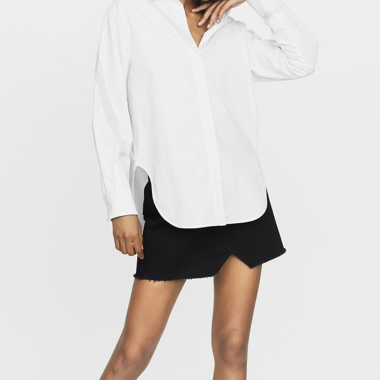 Oversized shirt with grosgrain : Tops & Shirts color Blue Sky