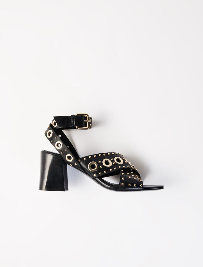 Heeled studded sandals - Shoes & Accessories - MAJE