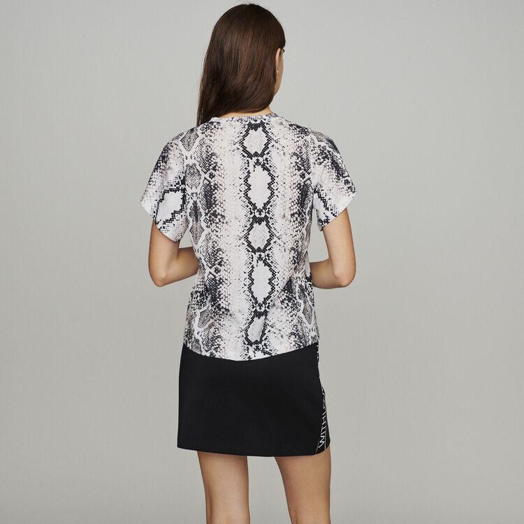 Tee-shirtwith python print : Tops & T-Shirts color Printed