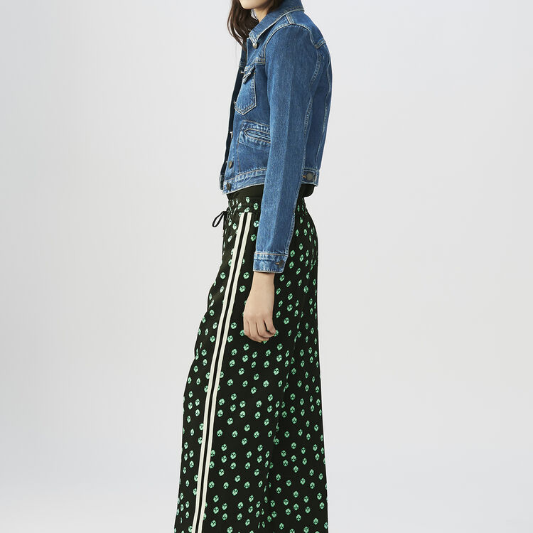 Draped printed pants : Pants & Jeans color PRINTED