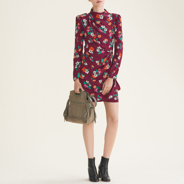 Printed wrapover dress : Best Sellers Sale color Print