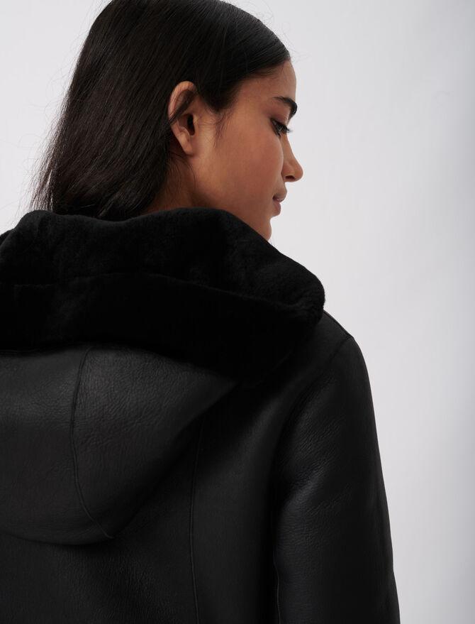 Reversible hooded shearling - Coats & Jackets - MAJE