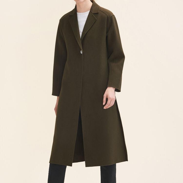 Long double-sided coat : Coats & Jackets color Khaki