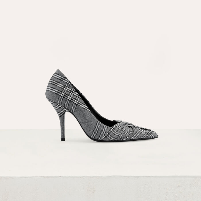 Draped pumps in Prince of Wales plaid : Shoes & Accessories color CARREAUX