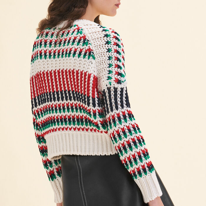 Decorative multi-coloured knit jumper : Sweaters color Multico