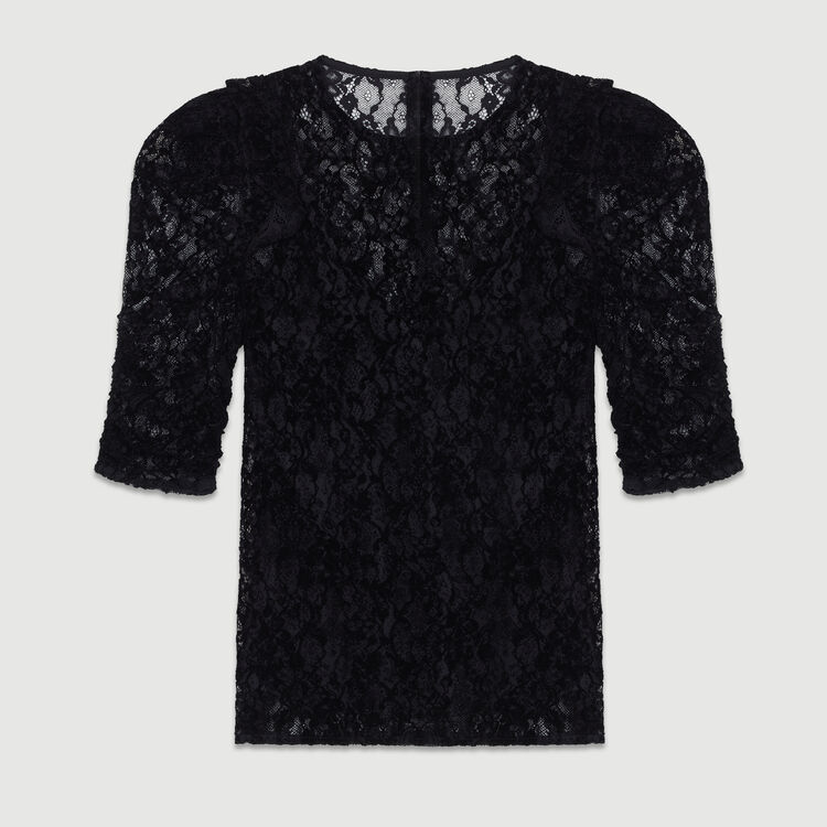 Velvet lace top : Tops & T-Shirts color Black 210