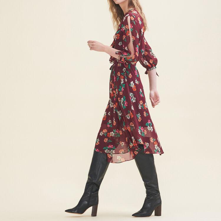 Printed chiffon dress : Dresses color Print