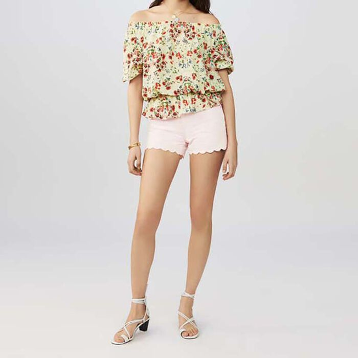 Printed silk top : Tops & T-Shirts color PRINTED