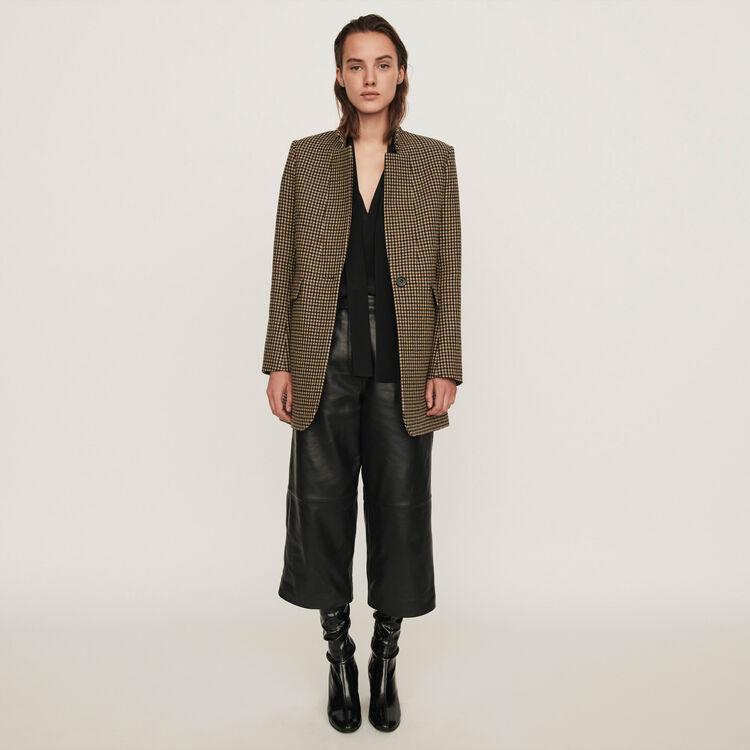 Plaid coat : 70s belong to Women color Brown