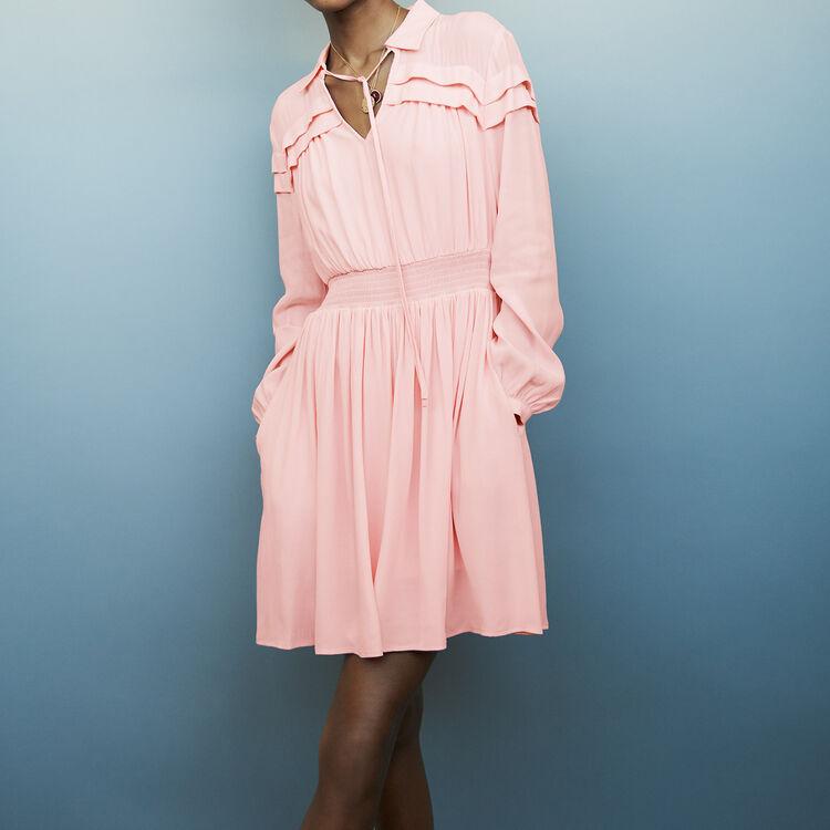 Shirt collar dress : Dresses color PURPLE