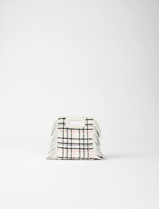 Tweed mini M bag with chain -  - MAJE