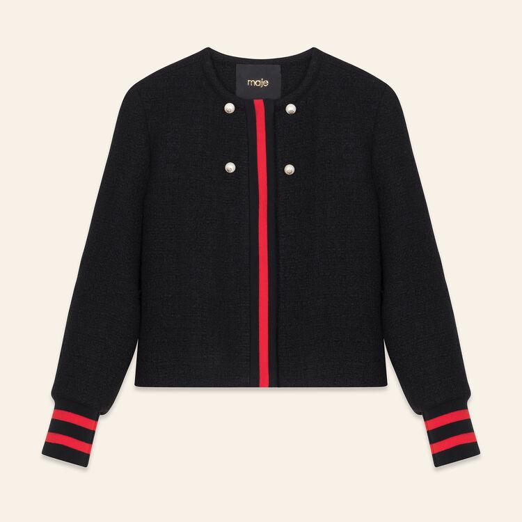 Tweed cropped jacket : null color