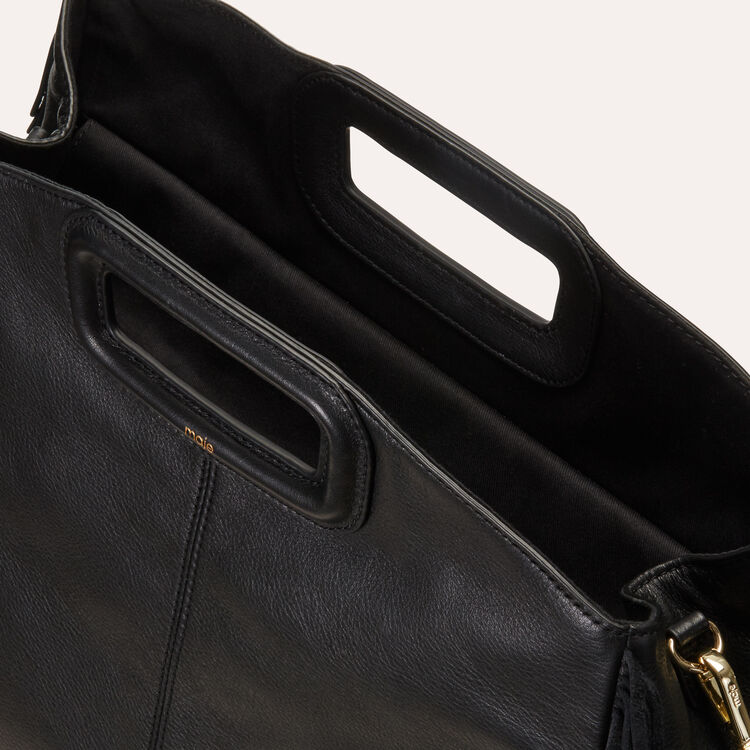 Tote with leather fringe : Handbags & Purses color Black 210