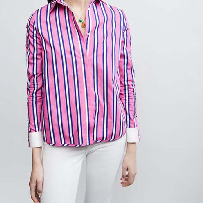 Striped cotton shirt with snaps : Tops & T-Shirts color Stripe