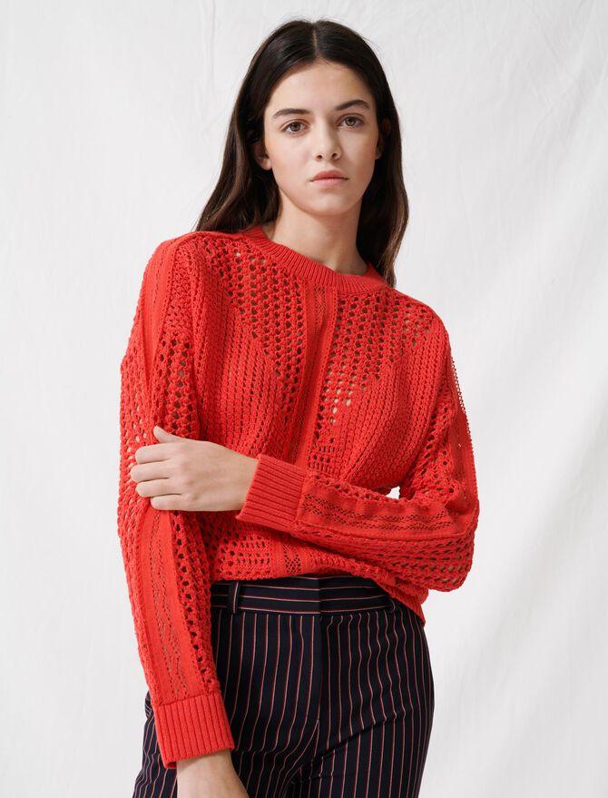 Crochet-style sweater - Sweaters - MAJE