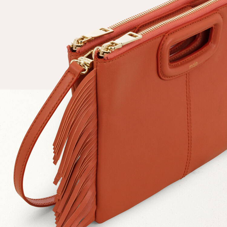 M Duo purse in leather : M Duo color Terracota