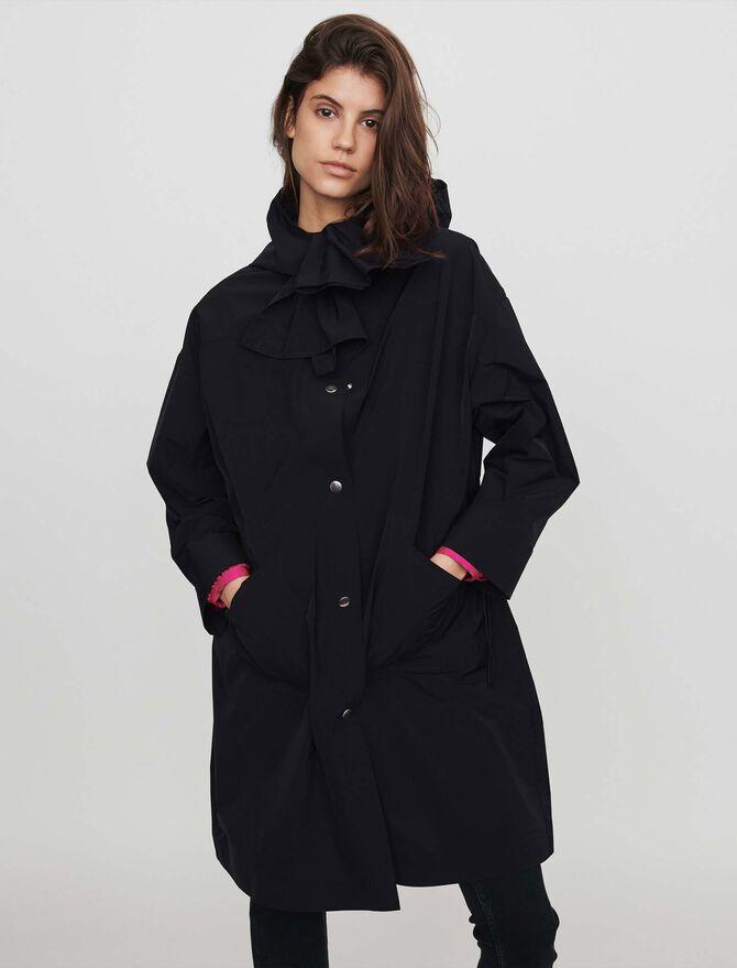 Hooded windbreaker-style parka - Coats & Jackets - MAJE