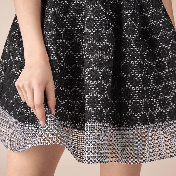 Basket lace skater skirt : Warehouse Sale color