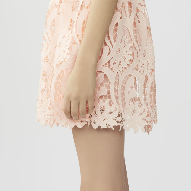 Fit and flare short dress : Dresses color Pink