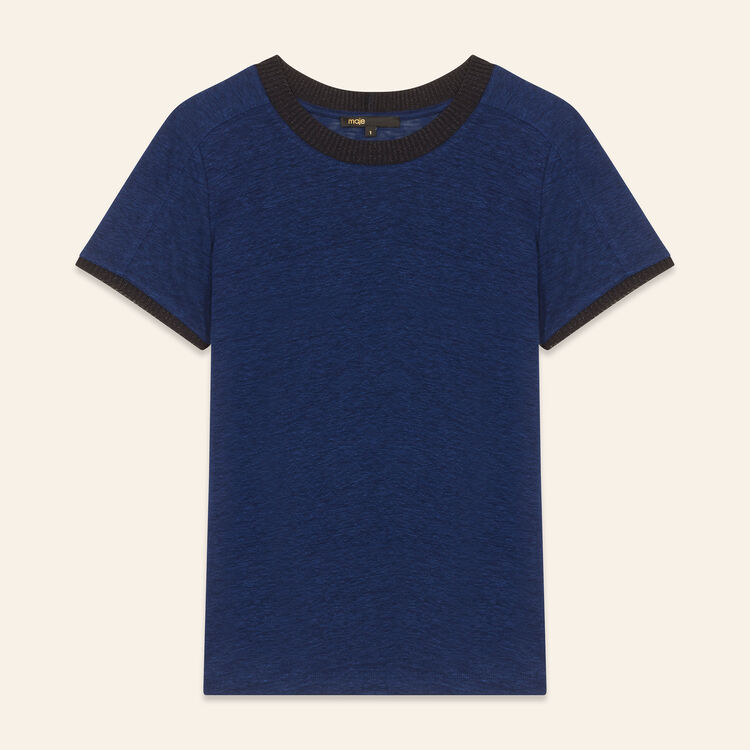 Linen T-shirt : Tops & T-Shirts color Navy