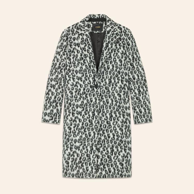 Leopard-print frock coat : Coats & Jackets color Print