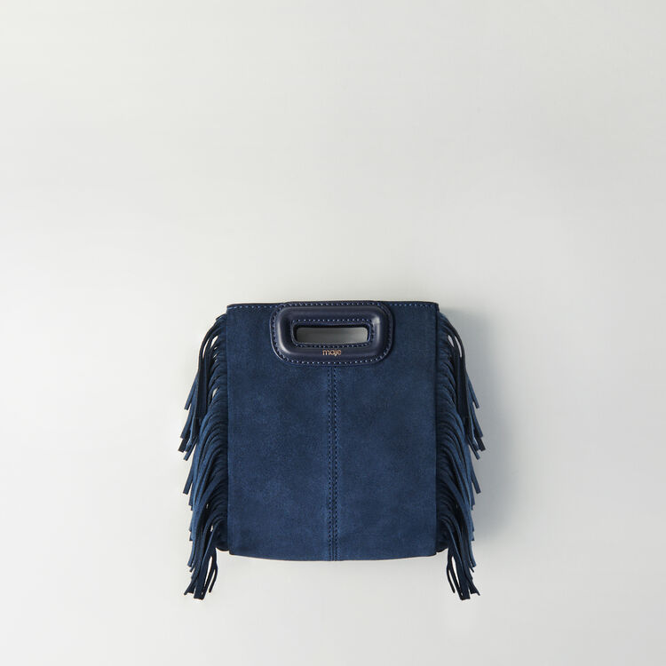 Mini suede M bag with chain : M Mini color Navy