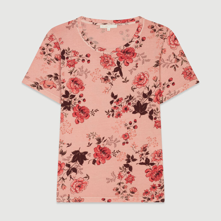 T-shirt with rose print : Tops & T-Shirts color Printed