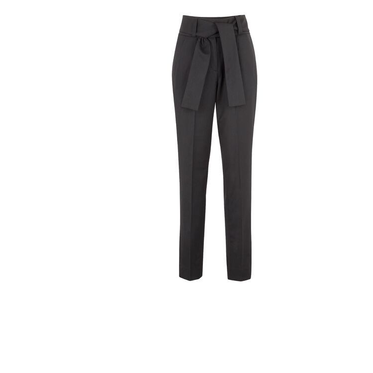 Wool carrot-cut trousers : Night looks color