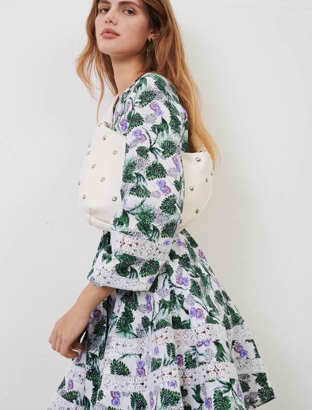 Maje Printed viscose linen dress