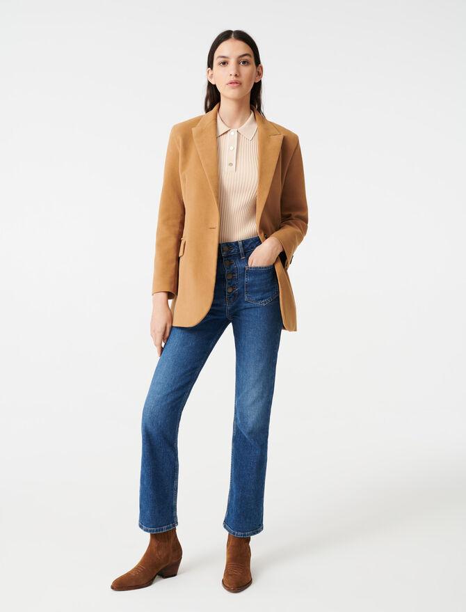 Velvet-style jacket - Coats & Jackets - MAJE