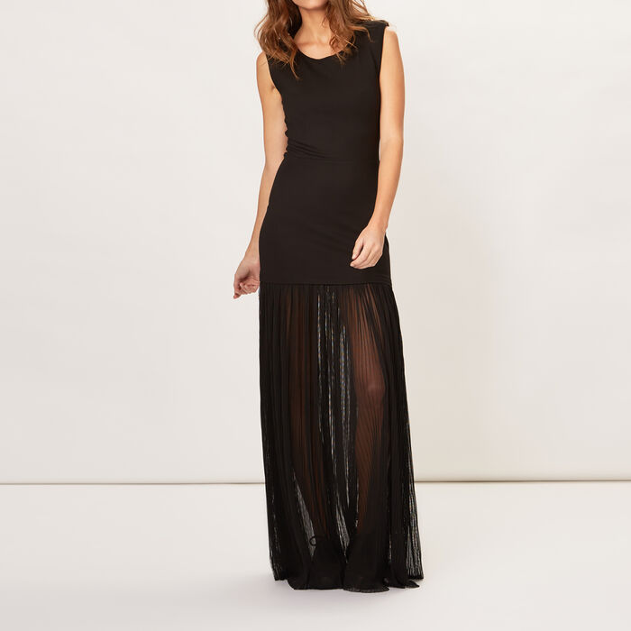 Long pleated crepe dress : Night looks color