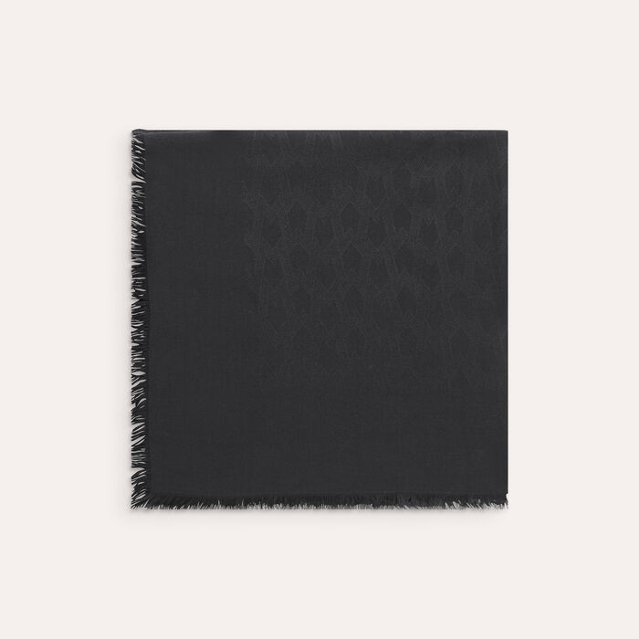 Cotton blend  shawl : Scarves color Black 210